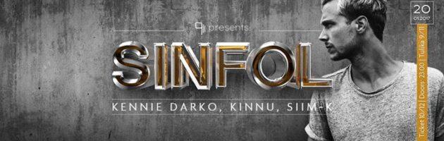 9/11 presents: Sinfol (NL) + Kennie Darko, Kinnu, Siim-K